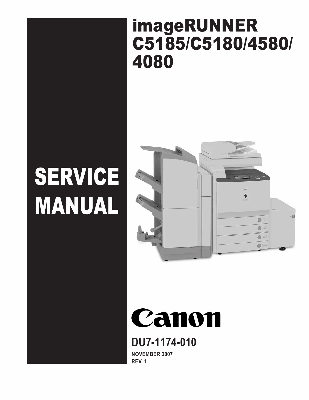 Canon imageRUNNER iR-C5185 C5180 C4580 C4080 Parts and Service Manual-1